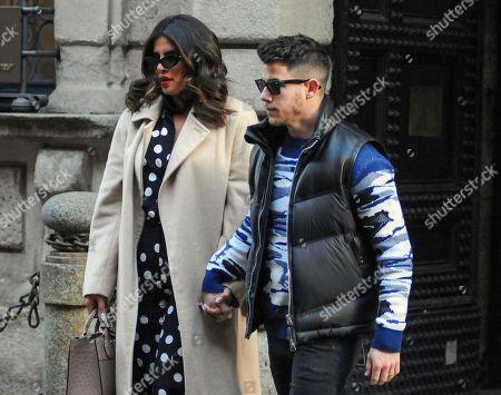 Stock Image of Priyanka Chopra and Nick Jonas
