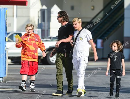 Gavin Rossdale with his sons Kingston Rossdale, Zuma Rossdale and Apollo Rossdale