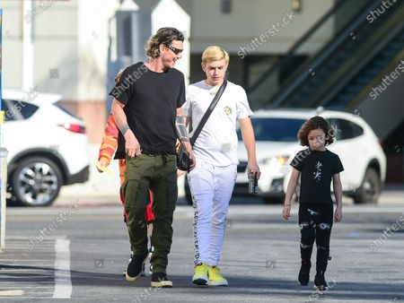 Gavin Rossdale with his sons Kingston Rossdale and Apollo Rossdale