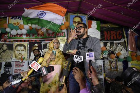 Bollywood director Anurag Kashyap eats biriyani during ongoing protests against CAA, NRC and NPR
