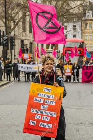 Editorial photo of Extinction Rebellion protest, London, UK - 15 Feb 2020