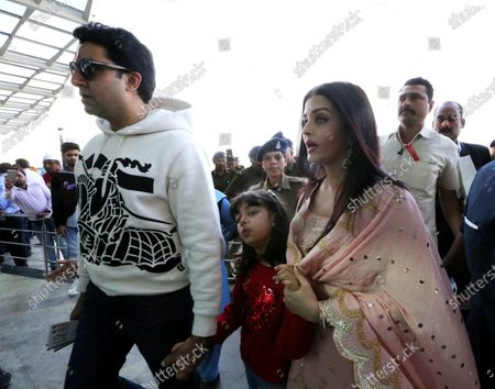 Editorial picture of Bollywood actor Abhishek Bachchan  with his wife and Bollywood actress Aishwarya Rai Bachchan  and  Abhishek Bachchan  in Bhopal., India - 15 Feb 2020
