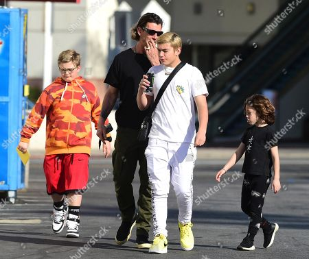 Editorial picture of Gavin Rossdale and family out and about, Los Angeles, USA - 14 Feb 2020