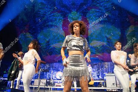 Regine Chassagne of Arcade Fire performs at the Krewe du Kanaval Mardi Gras Ball at Mahalia Jackson Theater for the Performing Arts, in New Orleans
