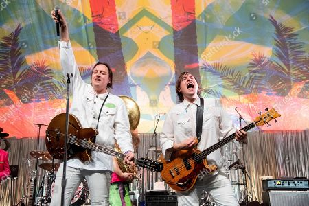 Win Butler, William Butler. Win Butler, left, and William Butler of Arcade Fire perform at the Krewe du Kanaval Mardi Gras Ball at Mahalia Jackson Theater for the Performing Arts, in New Orleans