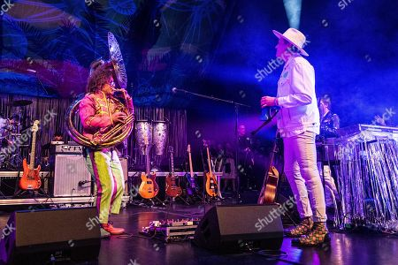 Ben Jaffe, Win Butler. Ben Jaffe, left, of the Preservation Hall Jazz Band perform with Win Butler of Arcade Fire at the Krewe du Kanaval Mardi Gras Ball at Mahalia Jackson Theater for the Performing Arts, in New Orleans