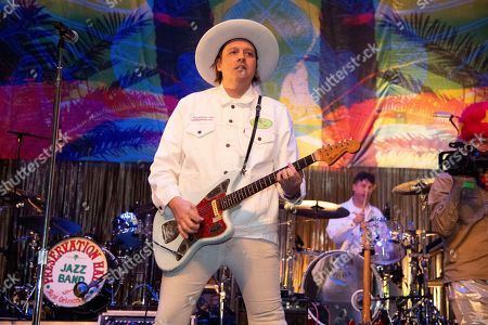 Win Butler of Arcade Fire performs at the Krewe du Kanaval Mardi Gras Ball at Mahalia Jackson Theater for the Performing Arts, in New Orleans