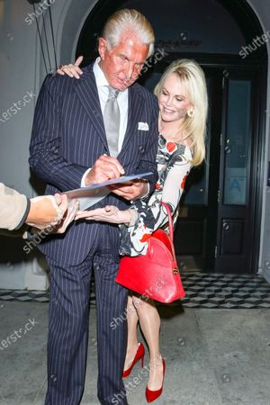 Editorial picture of George Hamilton out and about, Los Angeles, USA - 14 Feb 2020