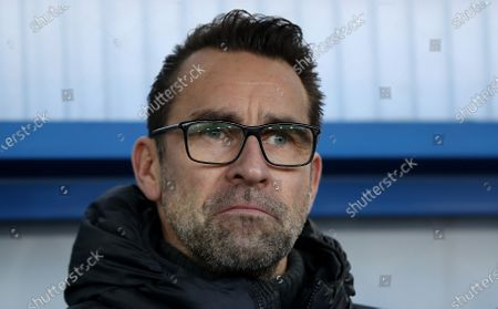 Hertha's general manager Michael Preetz looks on before the German Bundesliga soccer match between SC Paderborn and Hertha BSC Berlin in Paderborn, Germany, 15 February 2020.