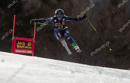 Francesca Fanti of Italy competes during the Ladies' Giant Slalom at 56th Golden Fox event at Audi FIS Ski World Cup 2019/20