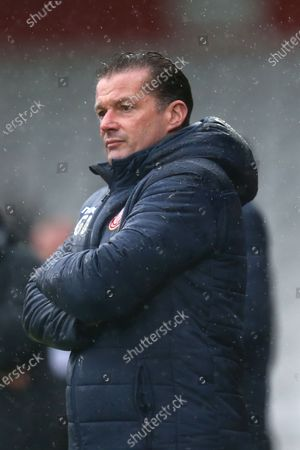 Stevenage manager Graham Westley  during Stevenage vs Salford City, Sky Bet EFL League 2 Football at the Lamex Stadium on 15th February 2020