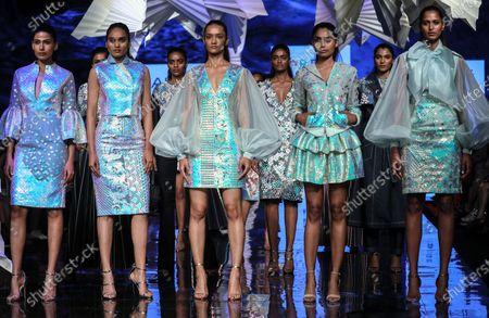 Models Presents Creation By Indian Designers Pankaj Editorial Stock Photo Stock Image Shutterstock