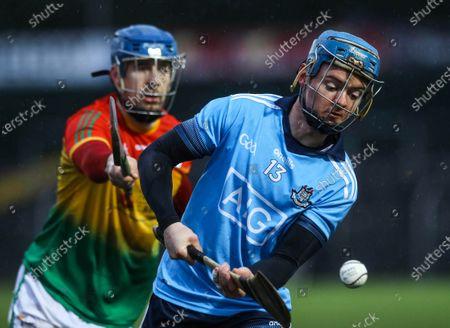 Carlow vs Dublin. Carlow's Michael Doyle and Oisin O'Rorke of Dublin