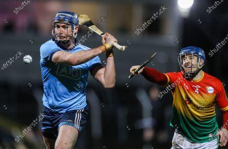 Carlow vs Dublin. Carlow's Michael Doyle and John Hetherton of Dublin