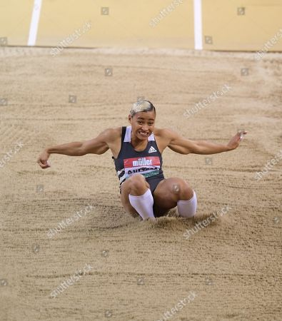 Stock Picture of Jazmin Sawyers (Great Britain) came 3rd in the women's lo during the Muller Indoor Grand Prix at the Emirates Arena in Glasgow, Scotland