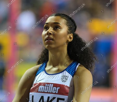 Morgan Lake (Great Britain) came 4th in the women's high during the Muller Indoor Grand Prix at the Emirates Arena in Glasgow, Scotland