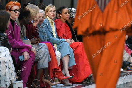 Stock Image of Vanessa Redgrave, Cate Blanchett and Zawe Ashton at the Foreign and Commonwealth Office