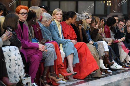 Editorial image of Roksanda show, Front Row, Fall Winter 2020, London Fashion Week, UK - 16 Feb 2020