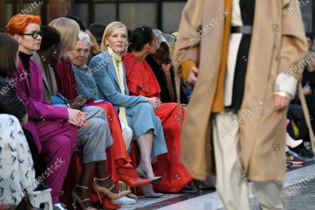 Editorial photo of Roksanda show, Front Row, Fall Winter 2020, London Fashion Week, UK - 16 Feb 2020
