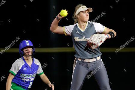 Editorial picture of Louisiana Monroe Texas A M Corpus Christi Softball, Conroe, USA - 14 Feb 2020