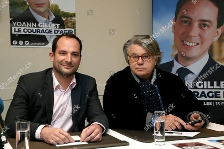 Rassemblement national (RN) Deputy Nicolas Meizonnet and member of Parliament Gilbert Collard