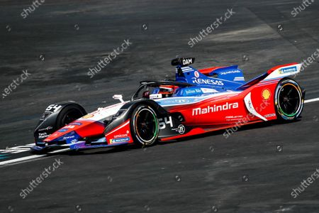 Stock Photo of Belgian driver Jerome D'Ambrosio of the Mahindra Racing team in action during the Grand Prix of Formula E at the Autodromo Hermanos Rodriguez of Mexico City, Mexico, 15 February 2020.