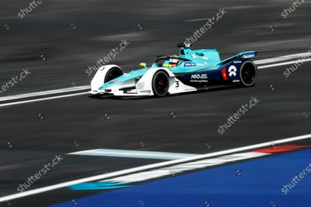 British driver Oliver Turvey of the NIO 333 team in action during the Grand Prix of Formula E at the Autodromo Hermanos Rodriguez of Mexico City, Mexico, 15 February 2020.