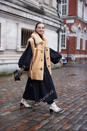 Editorial photo of Street style, Fall Winter 2020, London Fashion Week, UK - 15 Feb 2020