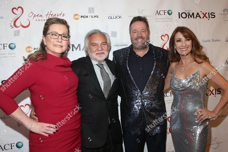 Angie Fiore, David Green, Terry Fator and Jane Seymour