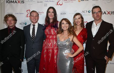 Stock Image of Jane Seymour, Katherine Flynn, Kristopher Steven Keach, Sean Flynn, John Stacy Keach and Jennifer Flynn