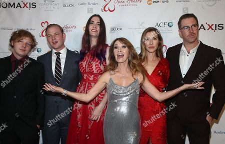 Jane Seymour, Katherine Flynn, Kristopher Steven Keach, Sean Flynn, John Stacy Keach and Jennifer Flynn