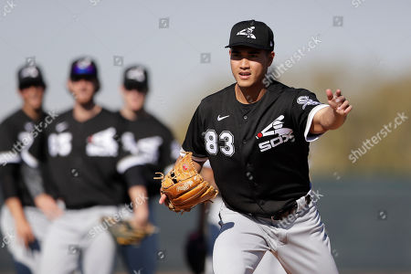 Chicago White Sox pitcher Kodi Medeiros trains during spring training baseball, in Phoenix