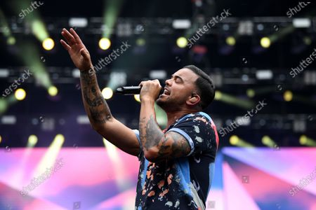 Stock Picture of Guy Sebastian performs during the Fire Fight Australia bushfire relief concert at ANZ Stadium in Sydney, Australia, 16 February 2020.