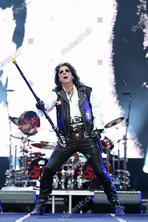 Alice Cooper performs during the Fire Fight Australia bushfire relief concert at ANZ Stadium in Sydney, Australia,  16 February 2020. Thousands of people attended the concert, with 10 hours of musical performances, to raise funds for communities devastated by bushfires.