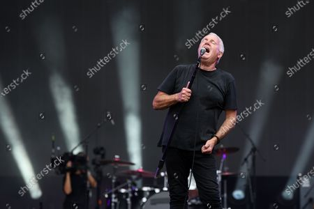 Stock Photo of Daryl Braithwaite performs during the Fire Fight Australia bushfire relief concert at ANZ Stadium in Sydney, Australia, 16 February 2020.