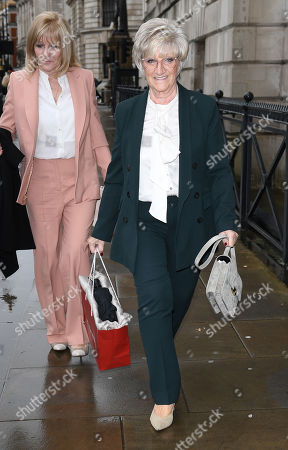 (L) Jackie Adams, Victoria Beckham's mother and (R) Sandra West, David Beckham's mother