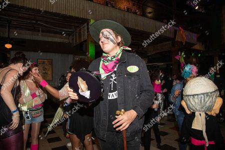 Win Butler of Arcade Fire is seen during the Krewe of Kanaval Parade Pre-Party at Tipitina, in New Orleans