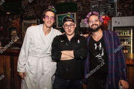 David Shaw, George Gekas, Zack Feinberg. David Shaw, from left, George Gekas and Zack Feinberg of The Revivalists seen during the Krewe of Kanaval Parade Pre-Party at Tipitina, in New Orleans