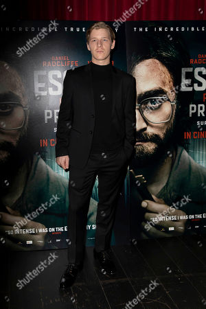 Stock Picture of Daniel Webber poses for photographers on arrival at a screening of the film 'Escape From Pretoria' in London