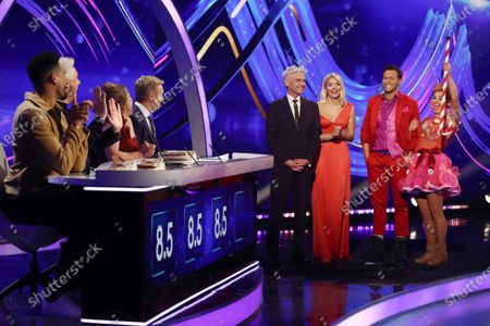 Joe Swash and Alexandra Schauman with Phillip Schofield and Holly Willoughby and Ashley Banjo, John Barrowman, Jayne Torvill and Christopher Dean
