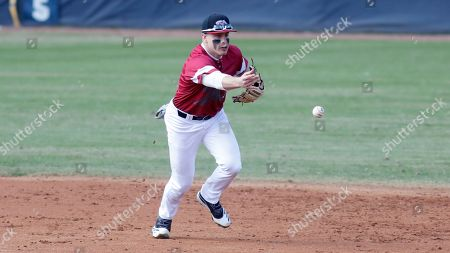 Rider's Kyle Johnson fields the ball against Charleston Southern in an NCAA college baseball game at Charleston Southern's baseball field, in North Charleston, S.C. Rider defeated Charleston Southern 5-1
