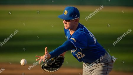 UC Santa Barbara's Kyle Johnson underhands a toss to first for an out against Sacramento State in a 1-0 victory for the Gauchos during an NCAA baseball game, in Sacramento, Calif