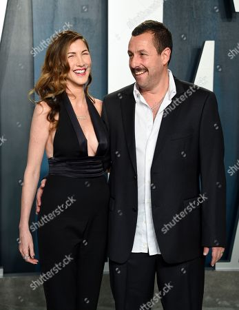 Jackie Sandler, Adam Sandler. Adam Sandler, right, and wife Jackie Sandler arrive at the Vanity Fair Oscar Party, in Beverly Hills, Calif