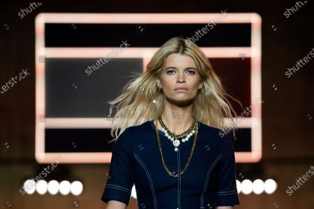 British model Pixie Geldof presents a creation by Tommy Hilfiger during London Fashion Week, in London, Britain, 16 February 2020. The Women's Autumn-Winter 2020/2021 collections are presented at the LFW until 18 February 2020.