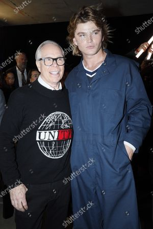 Stock Picture of Tommy Hilfiger and Jordan Barrett