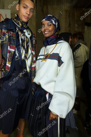 Editorial photo of Tommy Hilfiger show, Backstage, Fall Winter 2020, London Fashion Week, UK - 16 Feb 2020