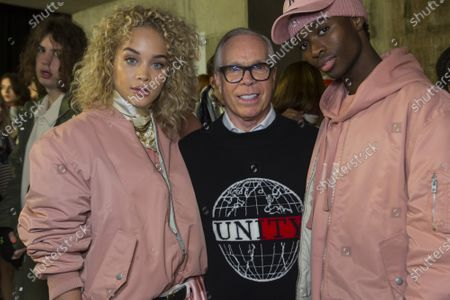 Jasmine Sanders, Tommy Hilfiger, Model backstage