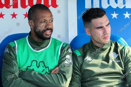 Stock Image of Dani Martin of Real Betis Balompie and Sidnei Rechel da Silva of Real Betis Balompie