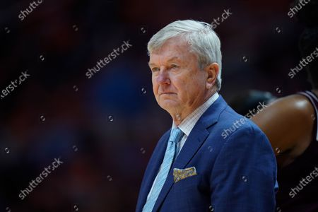 head coach Gary Blair of the Texas A&M Aggies during the NCAA basketball game between the University of Tennessee Lady Volunteers and the Texas A&M University Aggies at Thompson Boling Arena in Knoxville TN Tim Gangloff/CSM