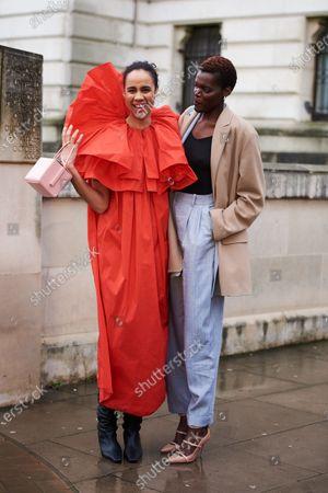 (left) Zawe Ashton and Sheila Atim